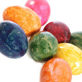 Collection of colourful marbled Easter Eggs — Stock Photo