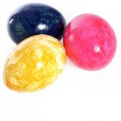 Vives oeufs de pâques colorés marbré — Photo