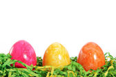 Colourful marbled Easter Eggs greeting card — Stock Photo