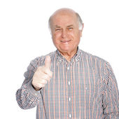 Smiling senior man — Stock Photo