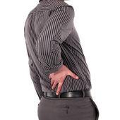 Hombre con dolor de espalda — Foto de Stock
