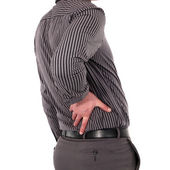 Man with back pain — Stockfoto