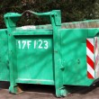 Stock Photo: Green colored heavy dumper