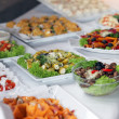 Variety of cold vegetables on a buffet — Stok fotoğraf