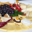Stock Photo: Cheese platter on a buffet