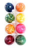 Colourful marbled Easter Eggs in a box — Stock Photo