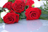 Romantic bouquet of red roses — Stock Photo
