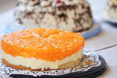 Tangy colourful citrus cheesecake — Stock Photo