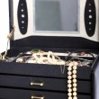Stock Photo: Open jewellery box with pearls