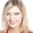 Portrait of a beautiful blond haired woman — Stock Photo