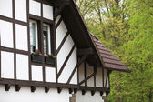 Detail of a timber frame house — Stock Photo