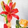 Floral display with tiger lily — Stock Photo
