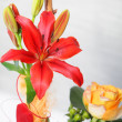 Floral display with tiger lily - Stock Photo