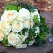 Bridal bouquet of fresh roses — Stock Photo