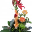 Stock Photo: Formal floral wedding arrangement