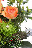 Flowers in a creative wedding display — Foto de Stock