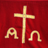 Priests vestment or church cloth — Stock Photo