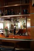 Deserted upmarket bar counter — Stock Photo