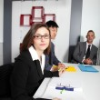 Businesswoman in a management meeting — Stock Photo