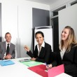 Stock Photo: Motivated young businesswomen
