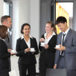 Group of diverse businesspeople on coffee break — Stock Photo