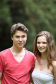 Portrait of a young teenage couple — Stock Photo