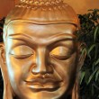 Face of a Buddha statue — Stock Photo