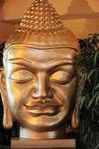 Ansiktet av en buddha staty — Stockfoto