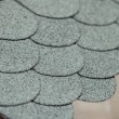 Rounded roof tiles viewed from above — Stock Photo