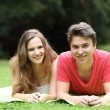 Attractive teenage boy and girl — Stock Photo