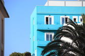Blue apartment block — Stock Photo