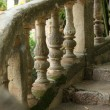Ornate stone balustrade — Stock Photo