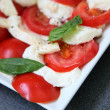 Stock Photo: Tomatoes and mozzarella