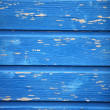 Texture of blue painted wooden planks — Stock Photo