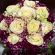 Bridal bouquet with yellow roses — Stock fotografie