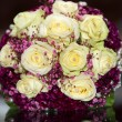 Bridal bouquet with yellow roses — Stock Photo