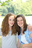 Two beautiful young teenage girls — Foto Stock