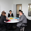 Young professional team in a business meeting — Stock Photo