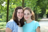 Two smiling teenage friends — Stock Photo