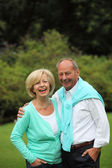 Happy affectionate senior couple — Stock Photo