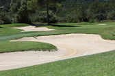 Sand trap or bunker — Stock Photo