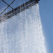 Ornamental curtain of running water — Stock Photo