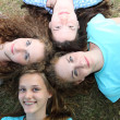Four beautiful teenage friends — Stock Photo #32912555
