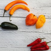 Bright colourful assorted peppers — Stock Photo