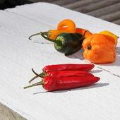 Rode hete chilipepers — Stockfoto