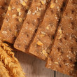Wheat crispbread crackers — Stock Photo