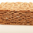 Stack of crispbread crackers — Stock Photo