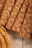 Wheat crispbread crackers — Stock Photo