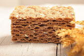 Wheat crispbread — Stock Photo