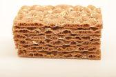 Stack of crispbread crackers — Stock Photo